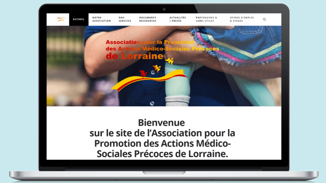 Le site de L'APAMS sur Desktop